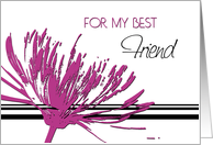 Pink Flower Best Friend Birthday Card