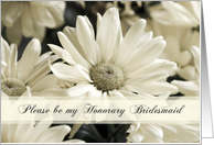 White Flowers Honorary Bridesmaid Invitation Card