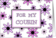 Cousin Flower Girl Invitation, Pink & Purple Flowers card