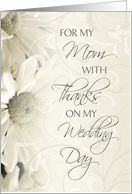 White Floral Mother of the Bride Wedding Thank You Card