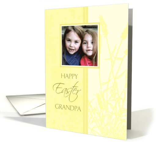 Happy Easter for Grandpa Photo Card - Pastel Yellow card (734636)