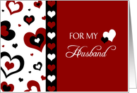 Valentines day cards for husband from greeting card universe happy valentines day for husband red black and white hearts card m4hsunfo