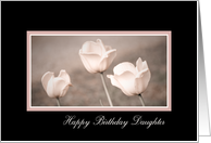 Happy Birthday Daughter - Pink Tulips card