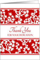 Happy Administrative Professionals Day - Red and White Floral card
