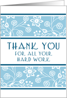 Happy Administrative Professionals Day - Blue & White Floral card