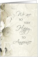 Daughter Engagement Announcement - White Flowers card