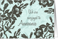 Daughter Engagement Announcement - Blue Floral card