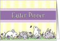 Easter Dinner Party Invitation - Easter Bunnies card