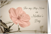 Happy Mother's Day for Step Mom - Pink Flower card