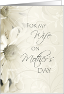Happy Mother's Day for Wife - White Floral card