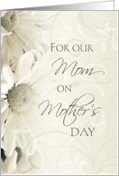 Happy Mother's Day for our Mom - White Floral card