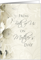 Happy Mother's Day from Daughter and Son in Law - White Floral card