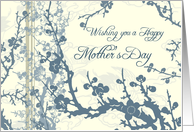 Happy Mother's Day from Daughter and Son in Law- Blue Floral card