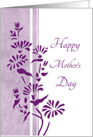 Happy Mother's Day from Daughter and Son in Law- Purple Floral card