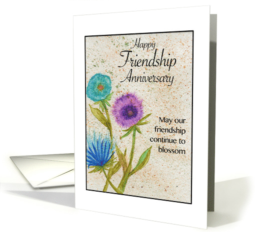 Happy Friendship Anniversary - Watercolor Blossoms card (1471738)