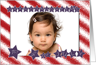 Patriotic Stars and Stripes Granddaughter's 1st 4th of July card
