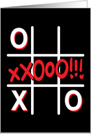 Tic tac toe Love card