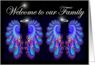 Welcome to our Family twin boys card