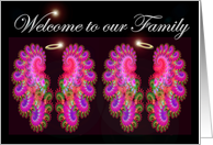 Welcome to our Family twin girls card
