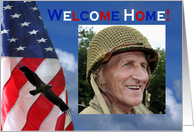 Welcome Home military homecoming photo card