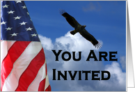 Welcome Home military homecoming party invitation card