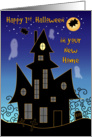 Happy 1st Halloween, New Home, haunted house card