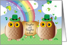 St. Patrick's Day to Daughter & Daughter in Law, owls card