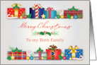 For Birth Family at Christmas Presents card