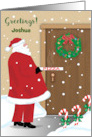 Custom Greetings to Teenager with Santa & Pizza card