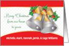 Custom From Our House to Yours with Silver Bells card