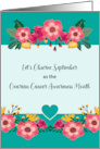 Ovarian Cancer Awareness Month of September Flowers card