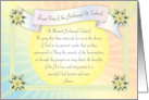 Feast Day of Archangel St. Gabriel White Dove card