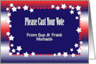 Custom Cast Your Vote Message card