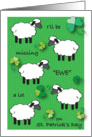 Missing Ewe on St. Patrick's Day, sheep card