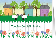 Invitation to Welcome to the Neighborhood Party card