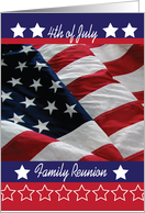 Invitation to Family Reunion on 4th of July card