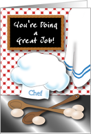 Encouragement for a Chef, kitchen card