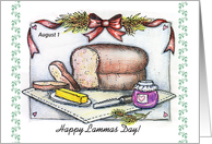 Happy Lammas Day/ First Harvest Festival card