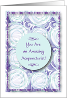 Encouragement to Acupuncturist, abstract design card