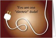 Encouragement for Electrician, electrical cord card