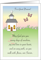 Encouragement for Deacon, church card
