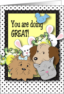 Encouragement for Pet Sitter, pets card