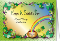 Happy St. Patrick's Day to Aunt, custom name shamrocks card