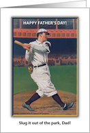 Happy Father's Day, Dad, baseball theme card