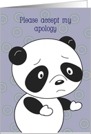 Apology panda, blank card
