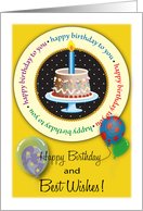 Happy Birthday for Sperm Donor, balloons card