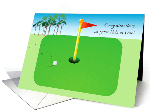 Congratulations/Hole in One, Golf card (1371618)