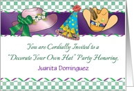 Custom Name Hat Party, for cancer patient, hats card