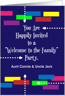 Custom Name Welcome to the Family Party, abstract card