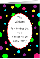 Custom Name Welcome to Family Invitation card
